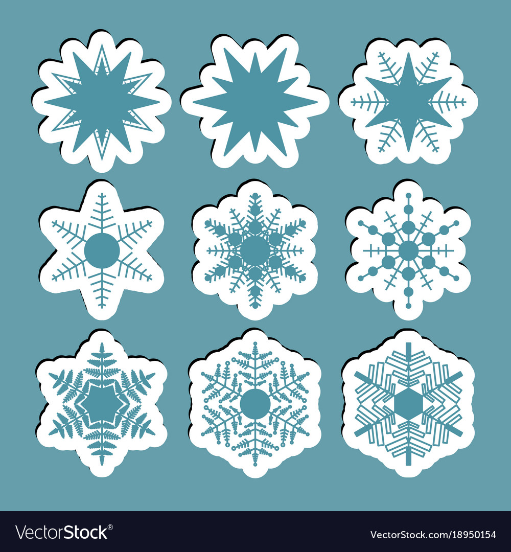 Simple snowflake icon vector