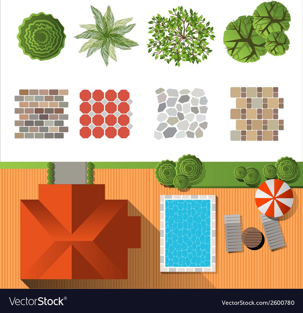 Ландшафтный дизайн в векторе
