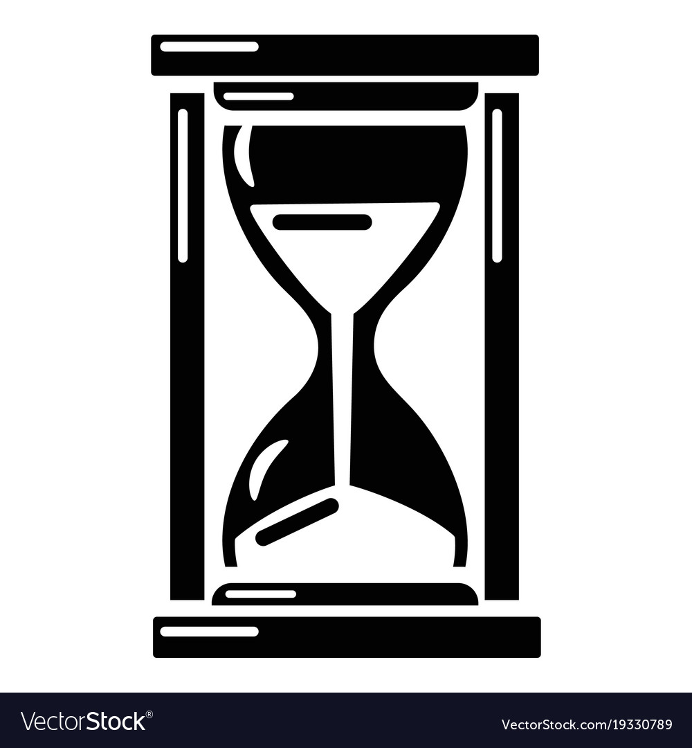 Simple hourglass icon
