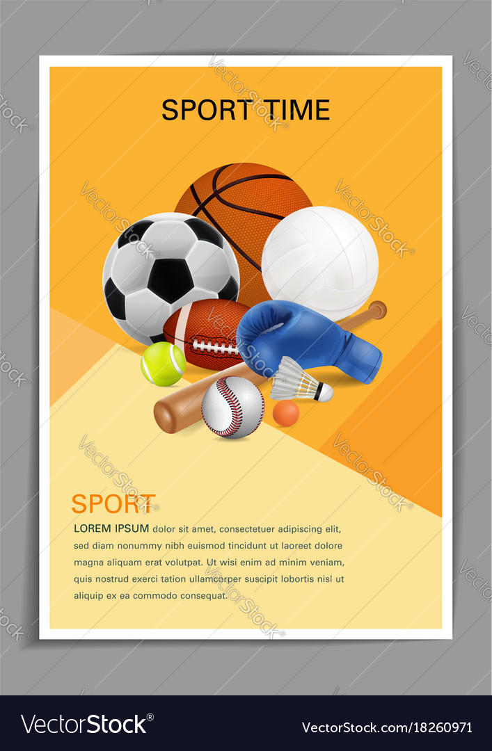 Sport poster templates free