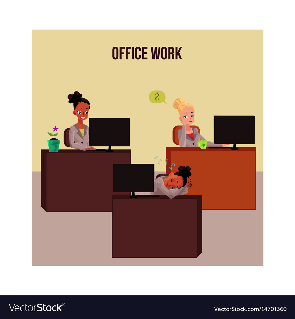 Office work poster