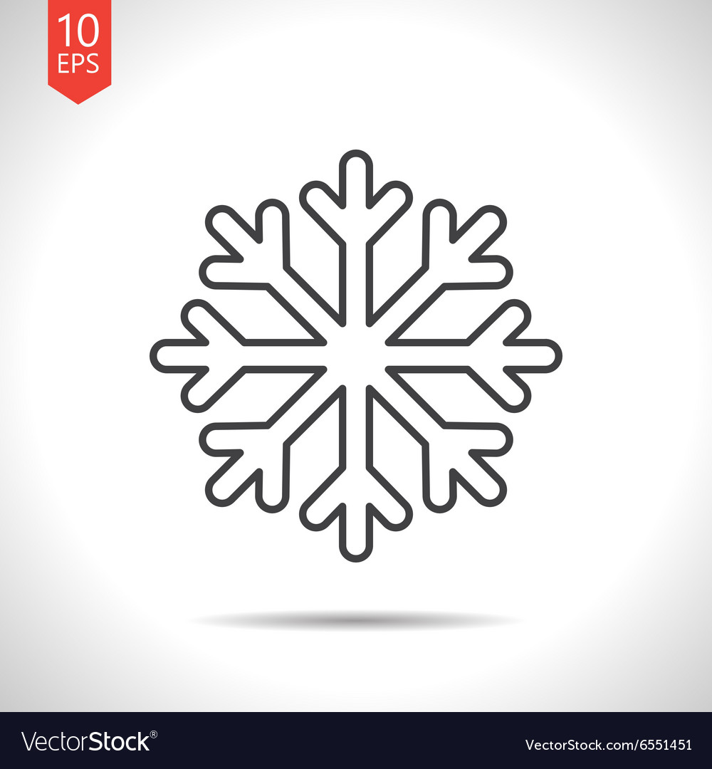 Snowflake Vector Icon Background Neutral Gray And Blue