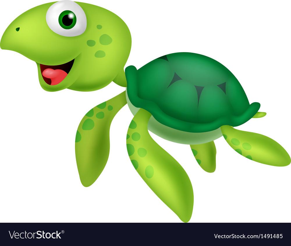 Sea turtle cartoon