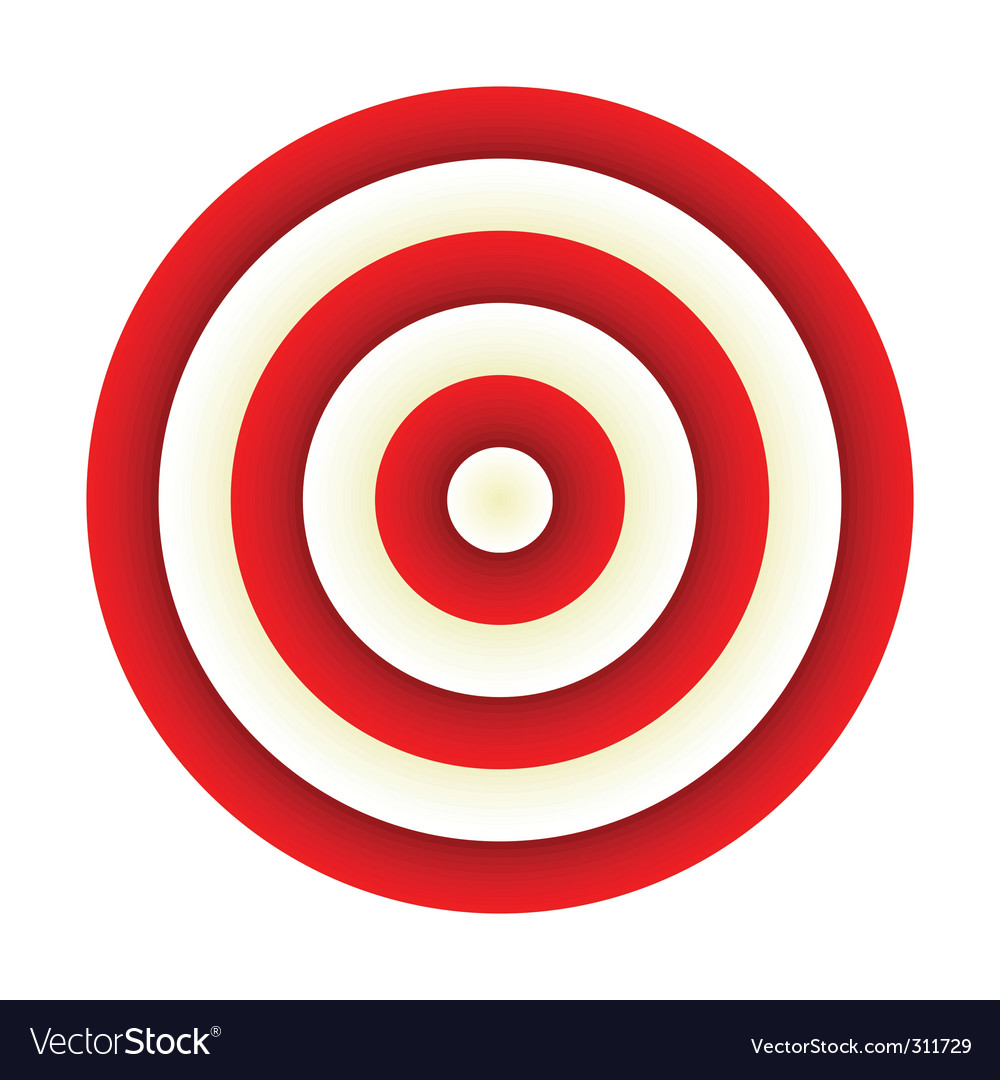 Wonderful target vector images