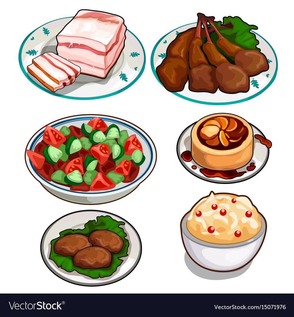 Chicken food illustration