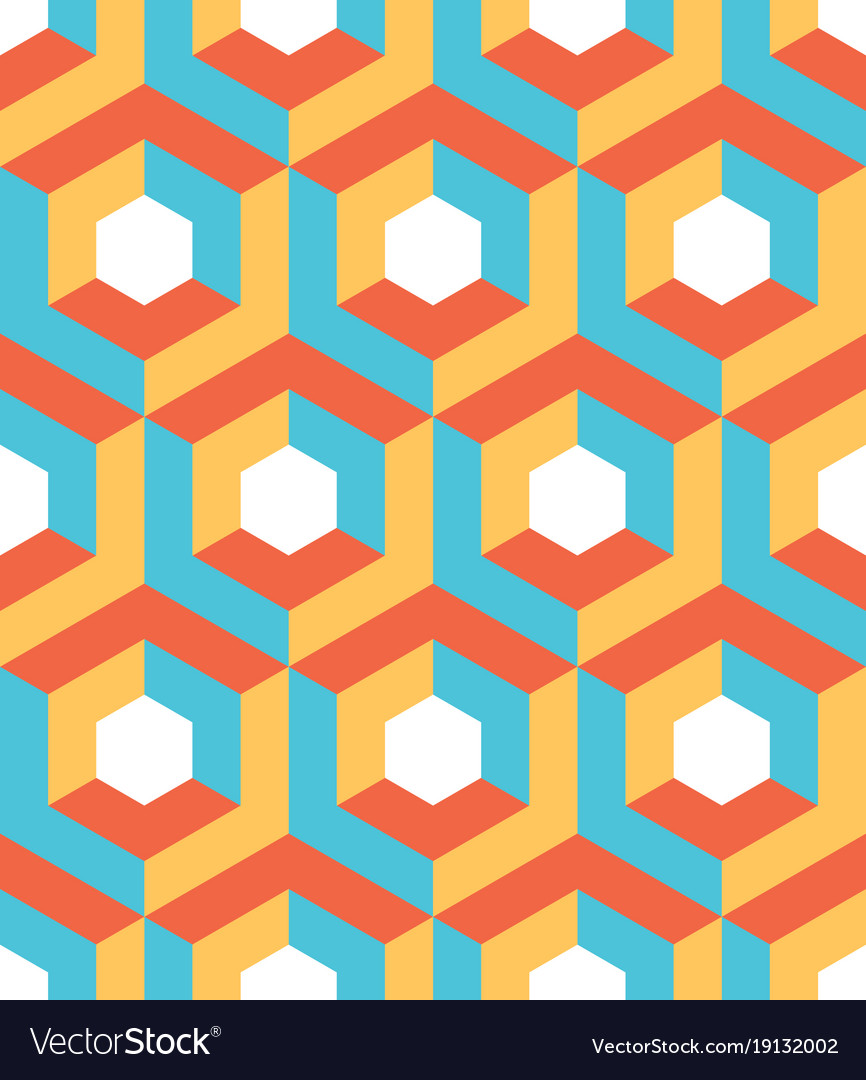 Hexagon vector pattern