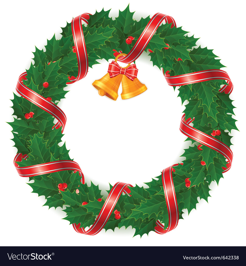 Christmas Wreath stock vector Illustration of