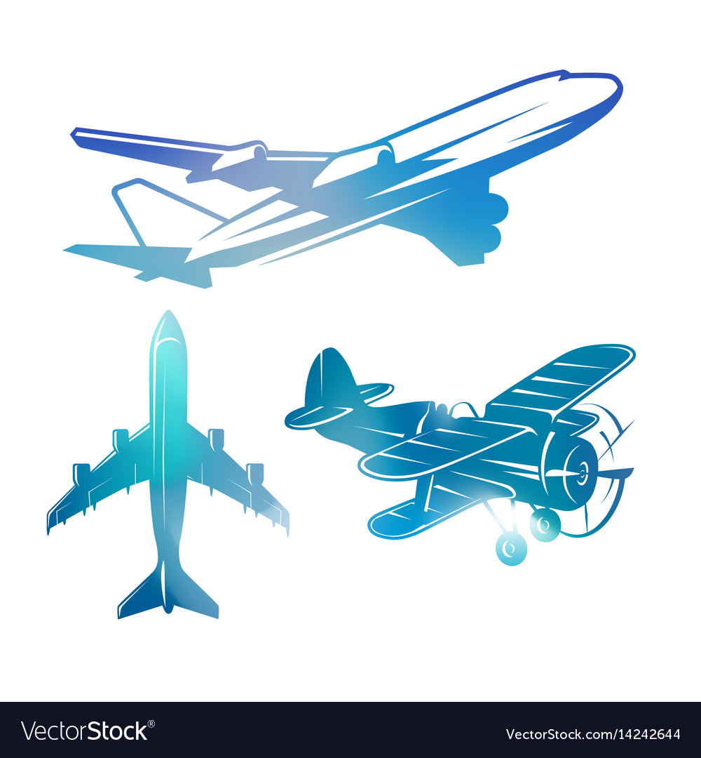 Charming vector aviation images