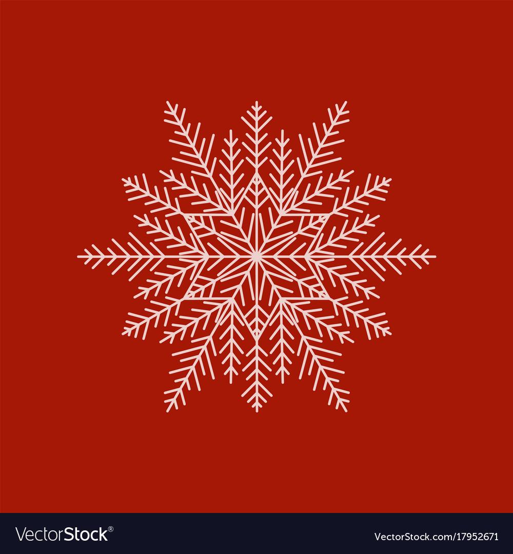 Modern snowflake vector