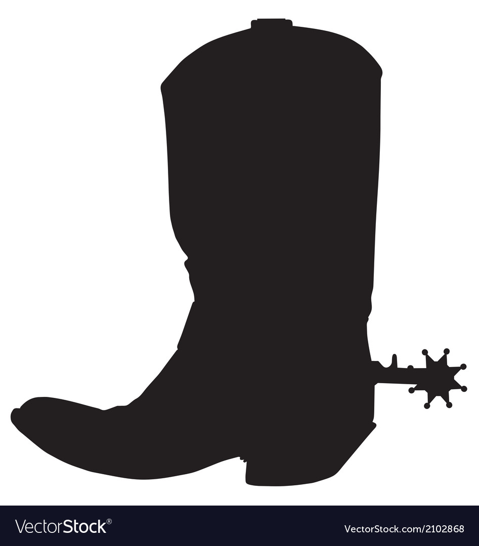 Cowboy boot with spur template