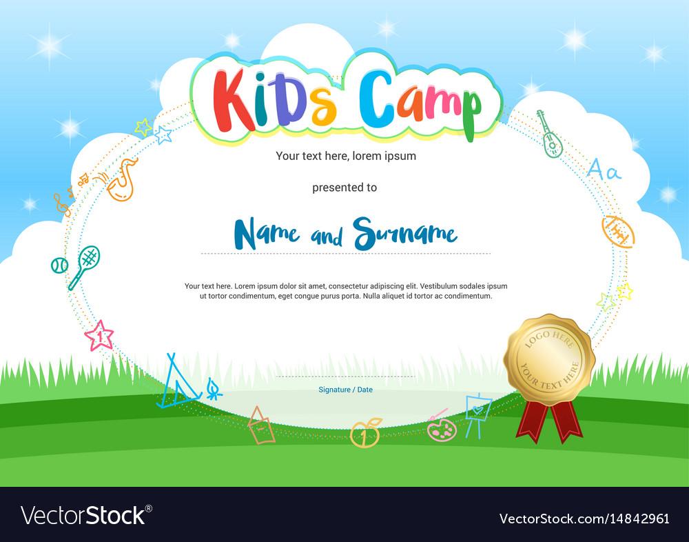 Summer Camp Certificate Template Mandegarfo