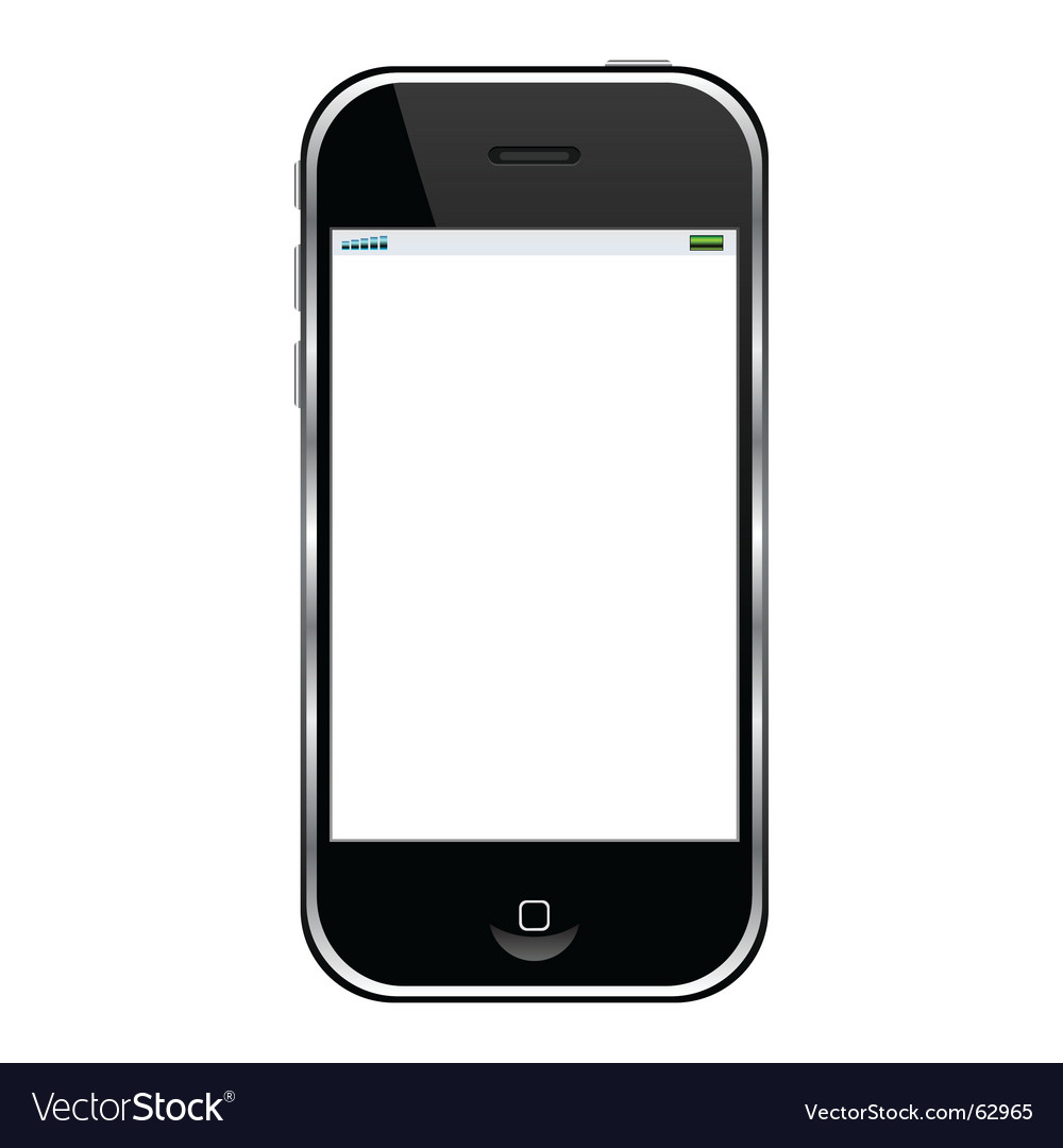Cell Phone Royalty Free Vector Image Vectorstock