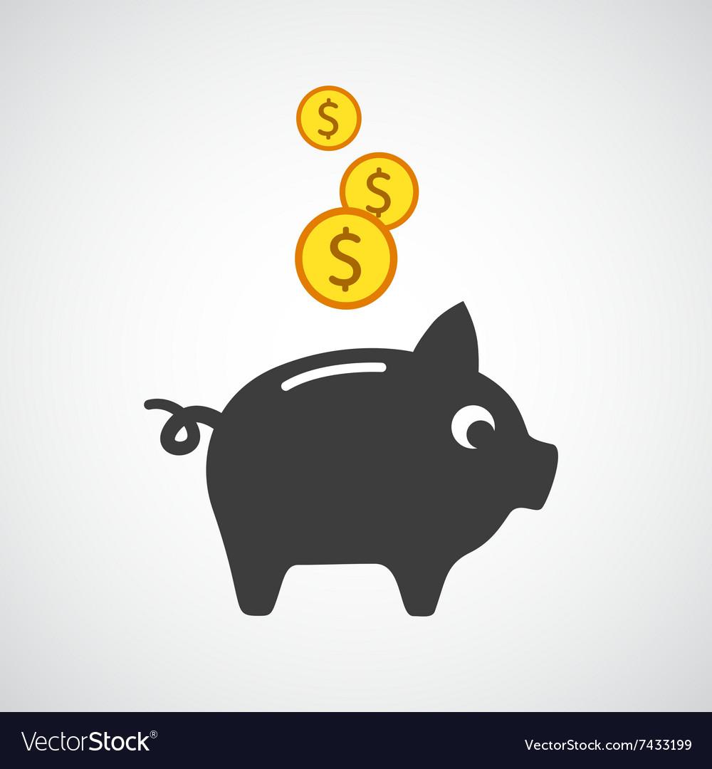 Piggy bank vector icon
