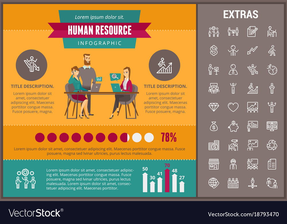 Human infographic template