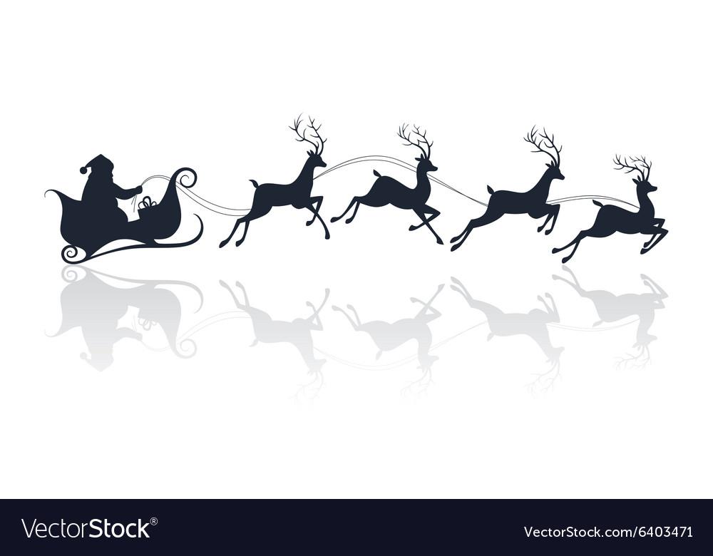 Santa claus sleigh silhouette