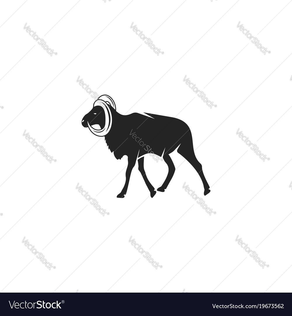Animal head silhouettes
