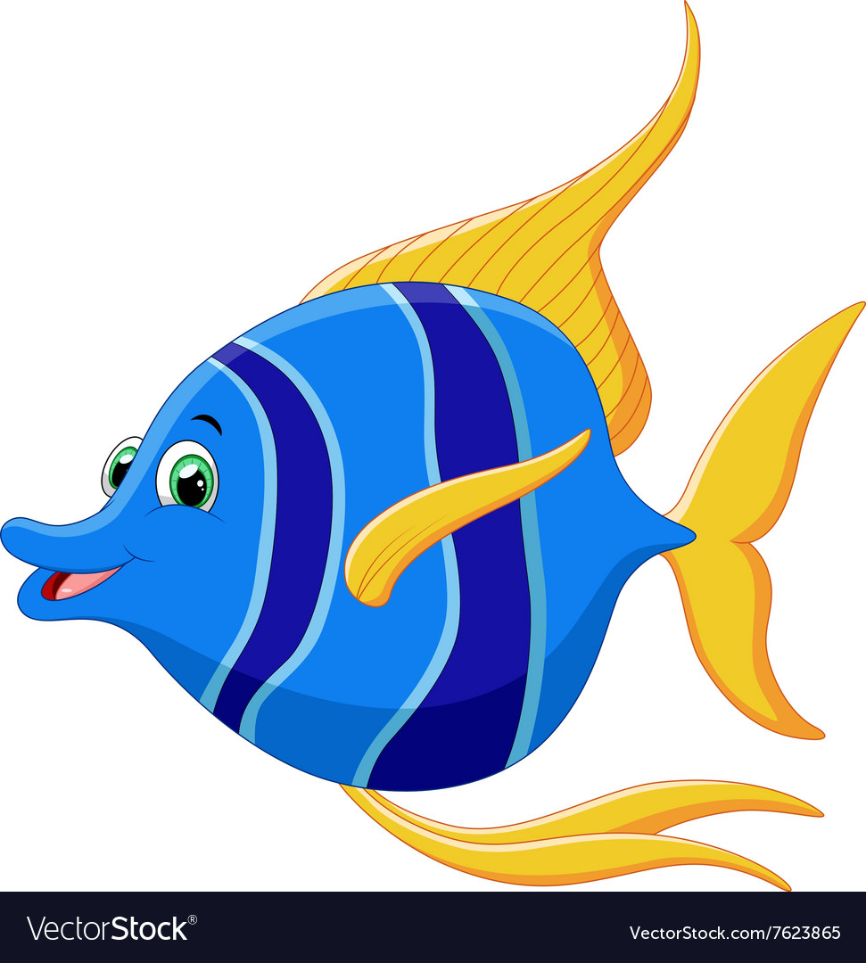 Cartoon angelfish