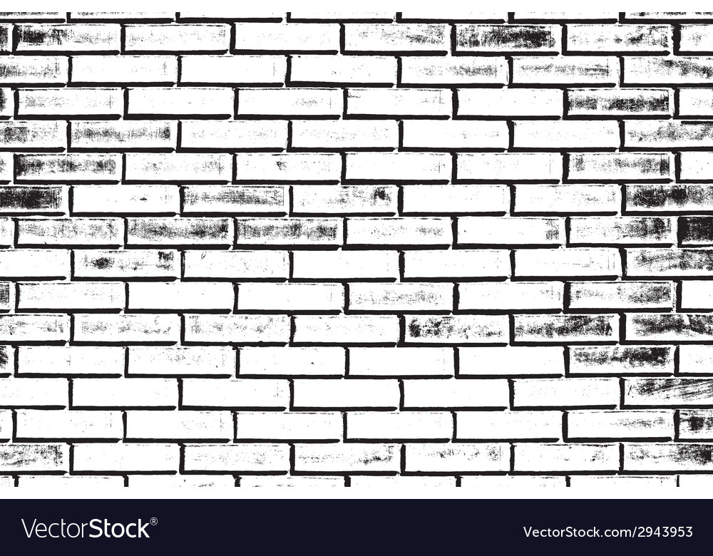 Decorative Brickwall Silhouette Vector Image