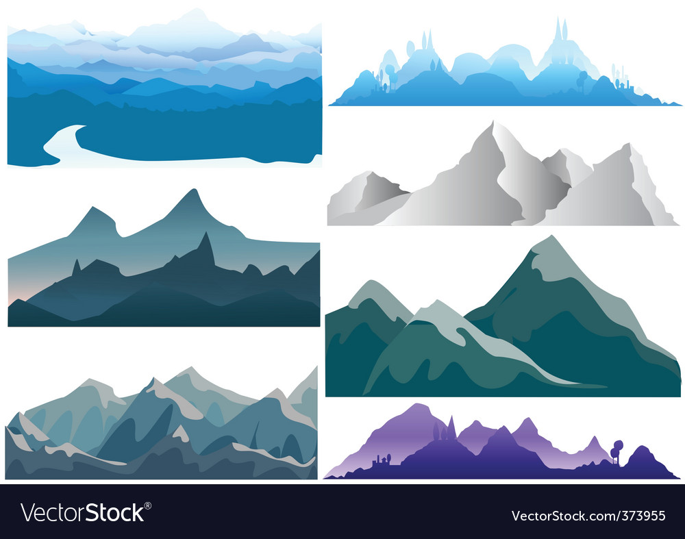 Stunning free mountain vector images
