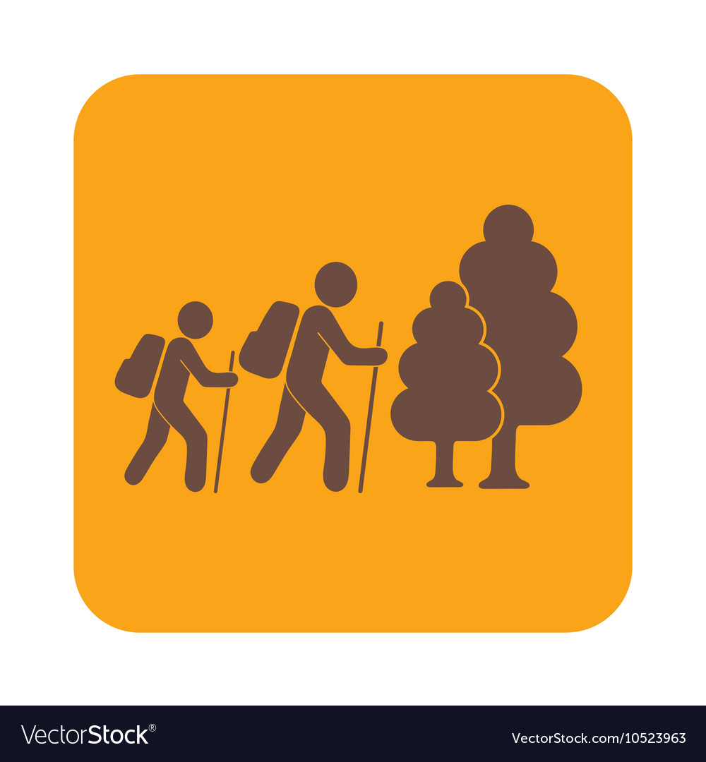 HIKING VECTOR SIGN  Download at Vectorportal