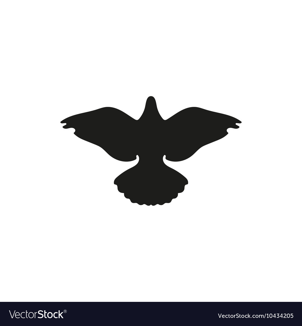 Dove silhouette vector