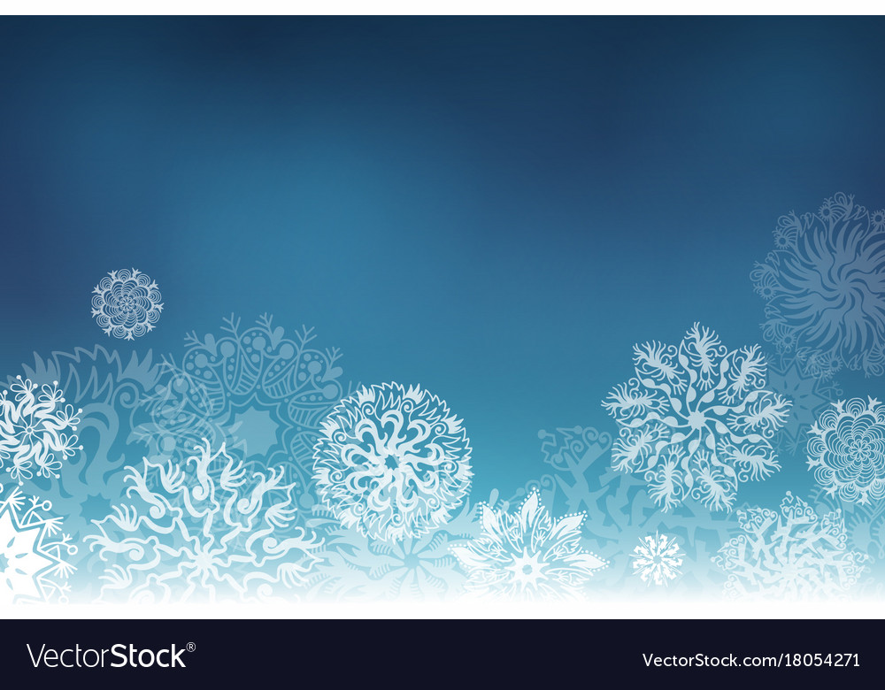 Stunning snowflakes vector pictures
