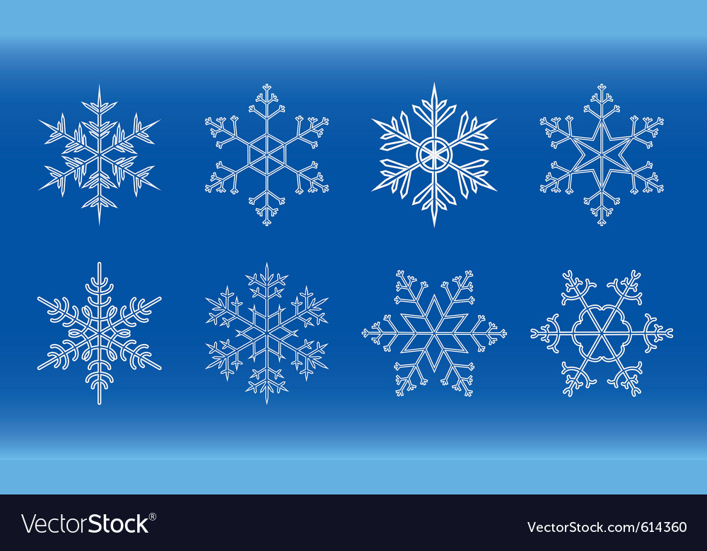 Geometric snowflake vector