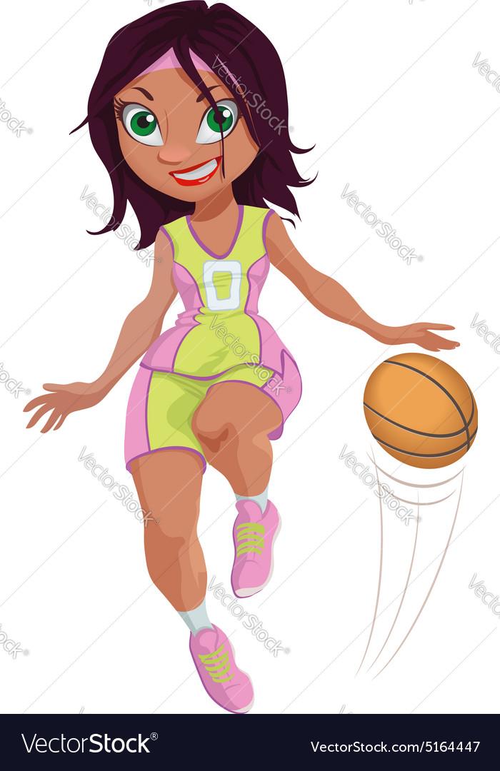 Girls basketball cartoon images
