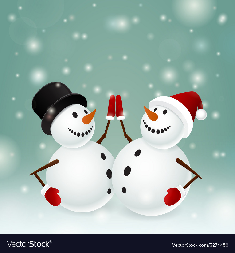 Appealing snowman vector images