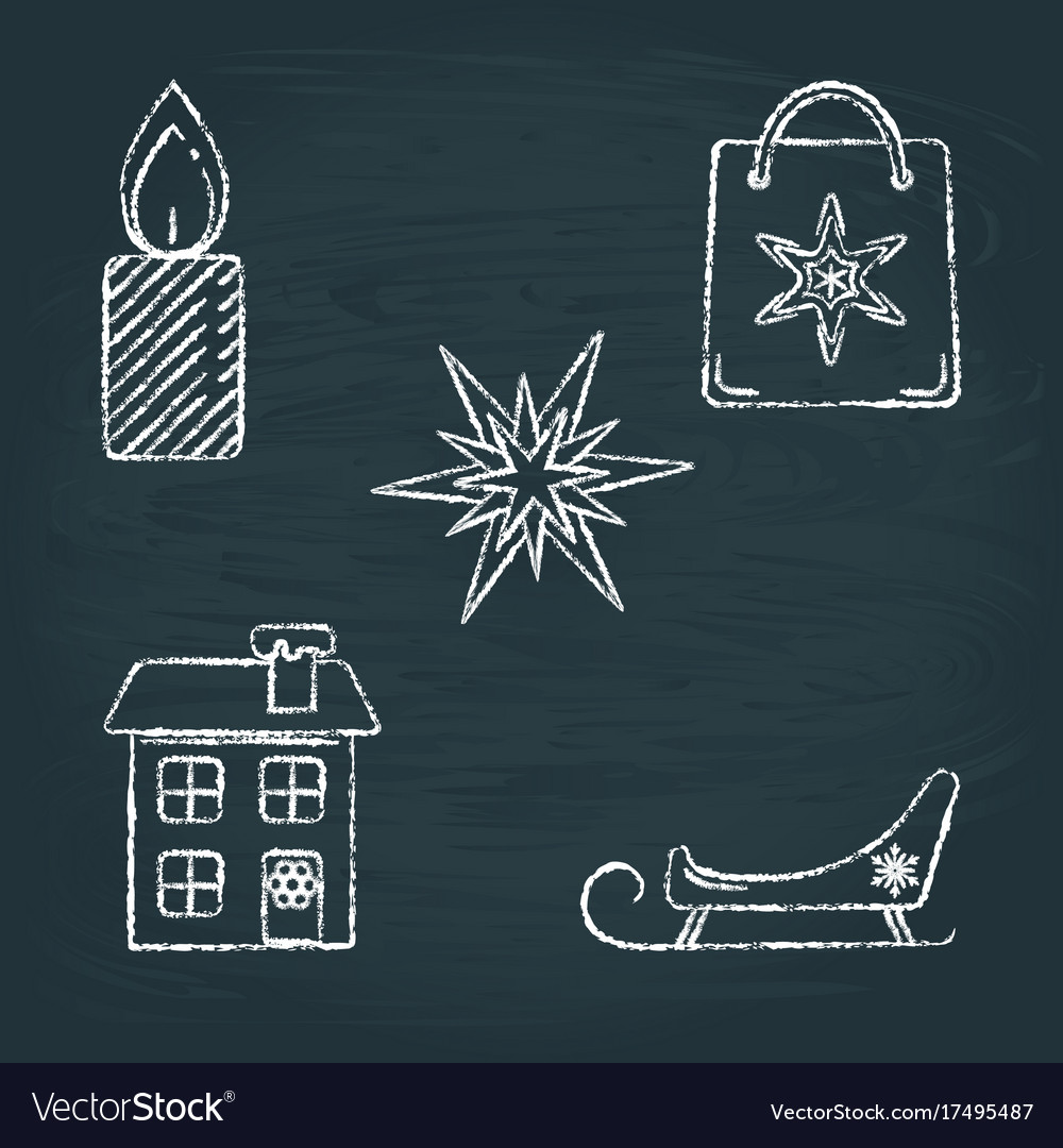 Chalkboard snowflake vector
