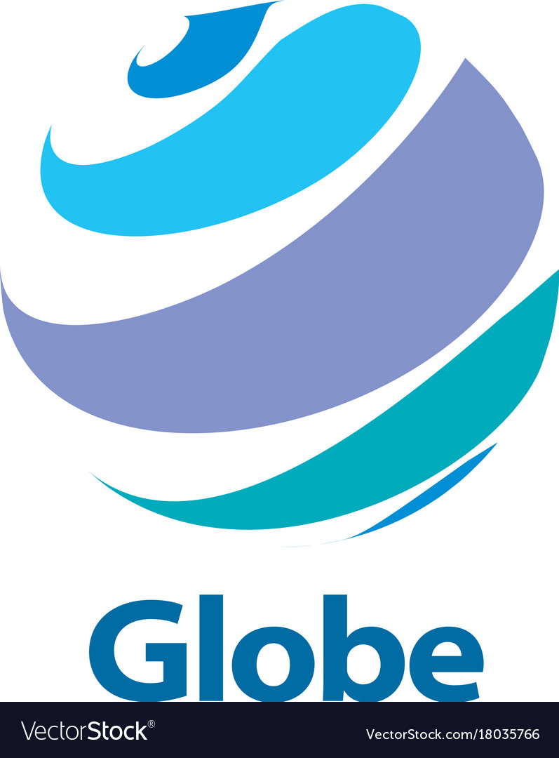 World globe logo design