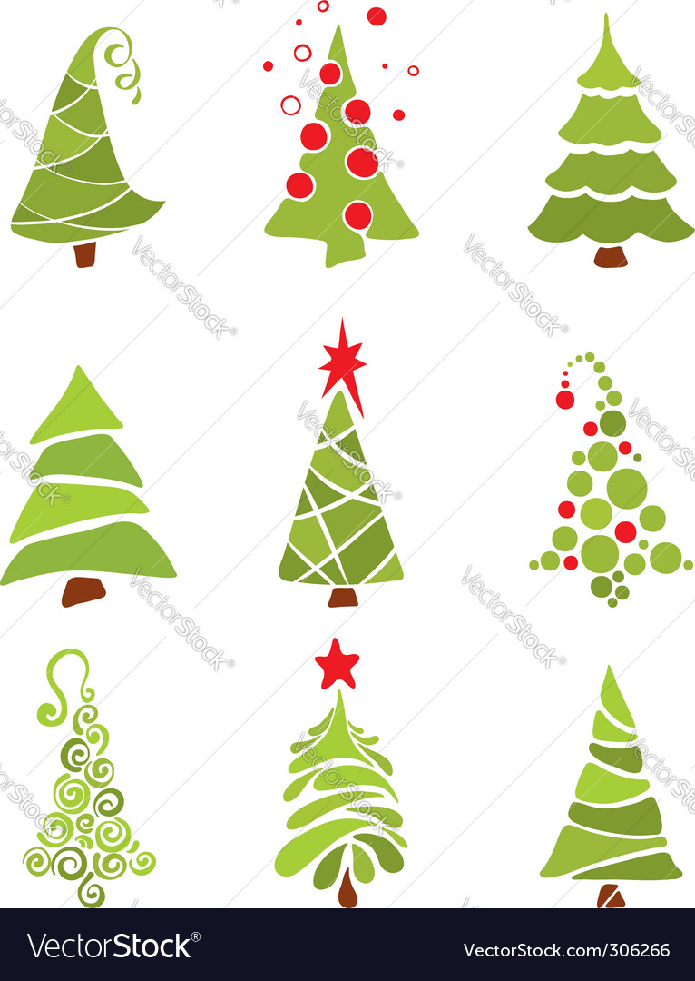 Amazing christmas tree vector art free download images