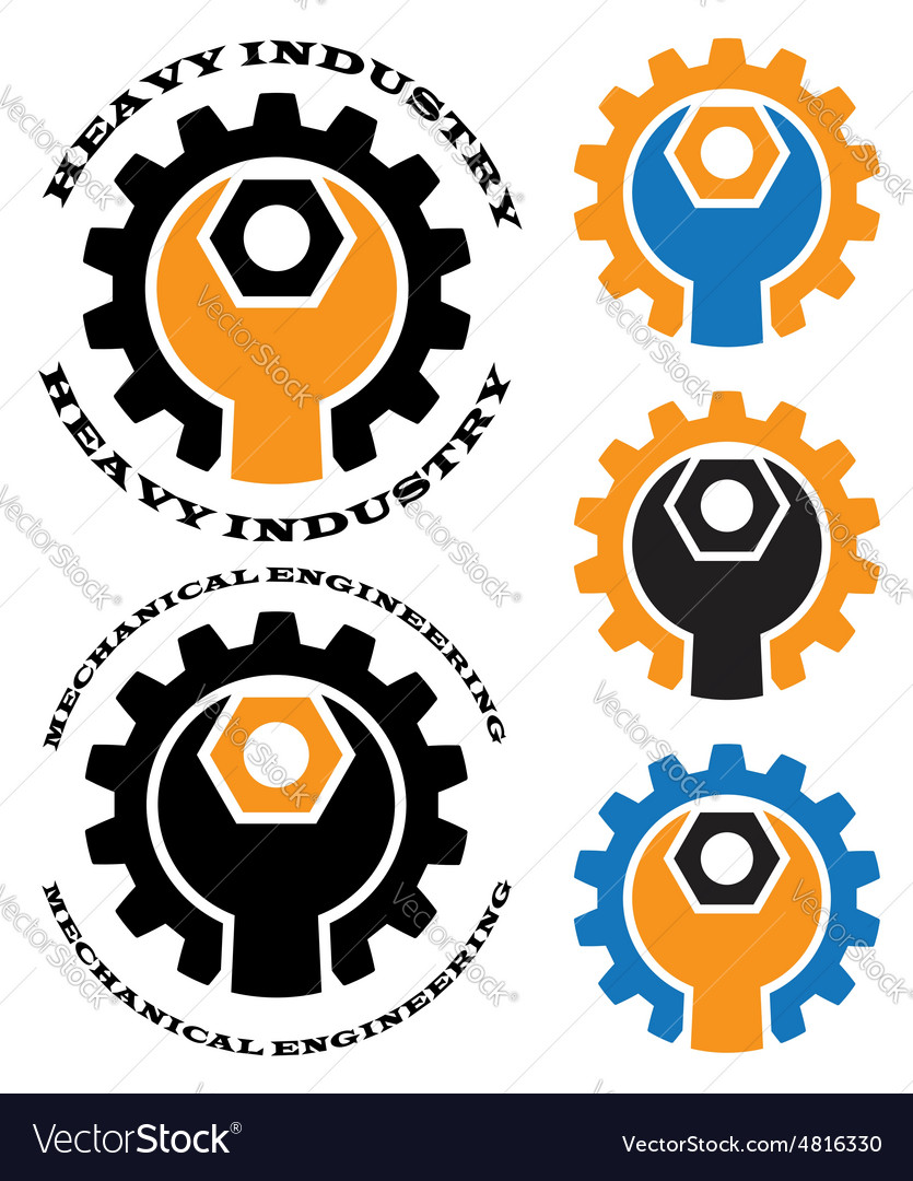 Mechanical engineering logos clip art