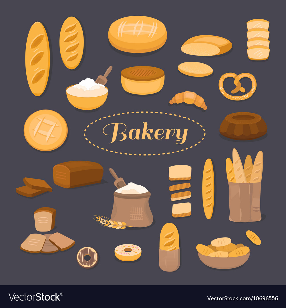 Captivating bread vector images