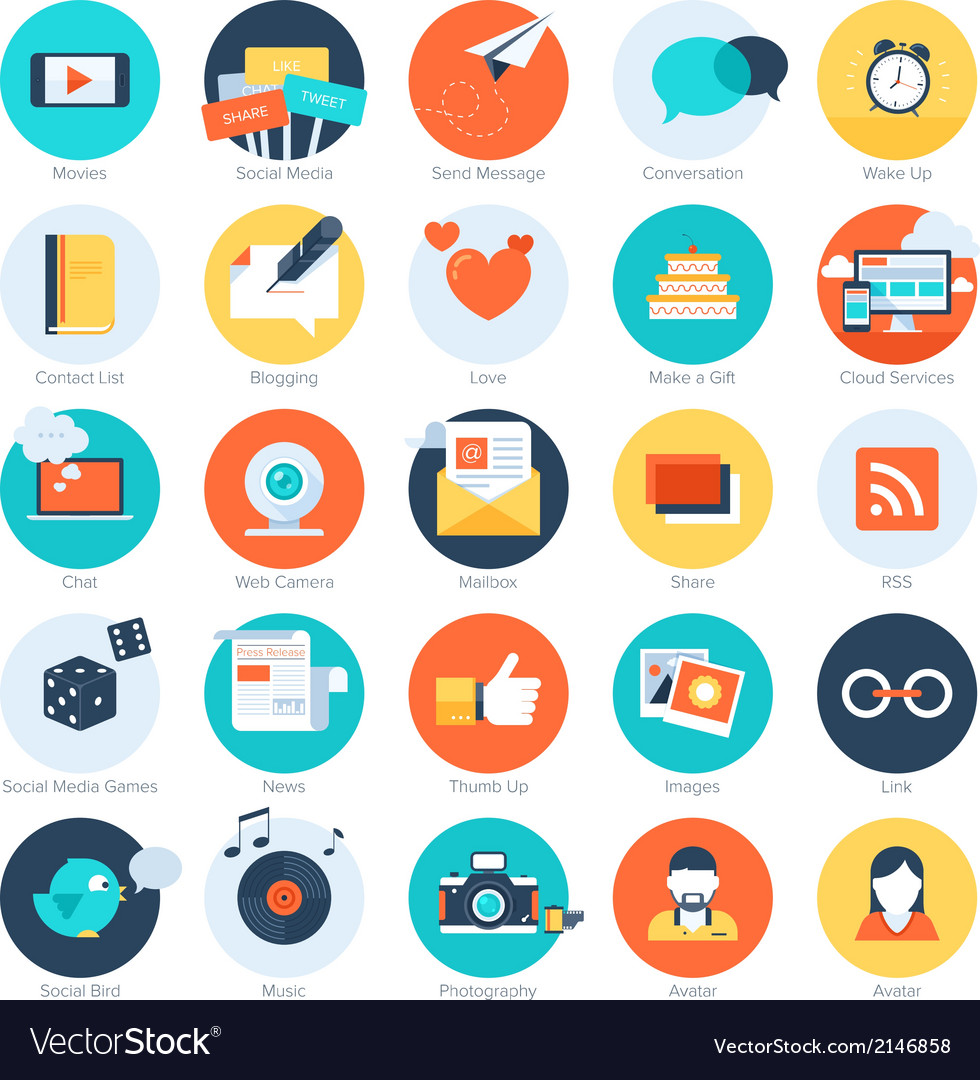 Fabulous social media icons vector free photos