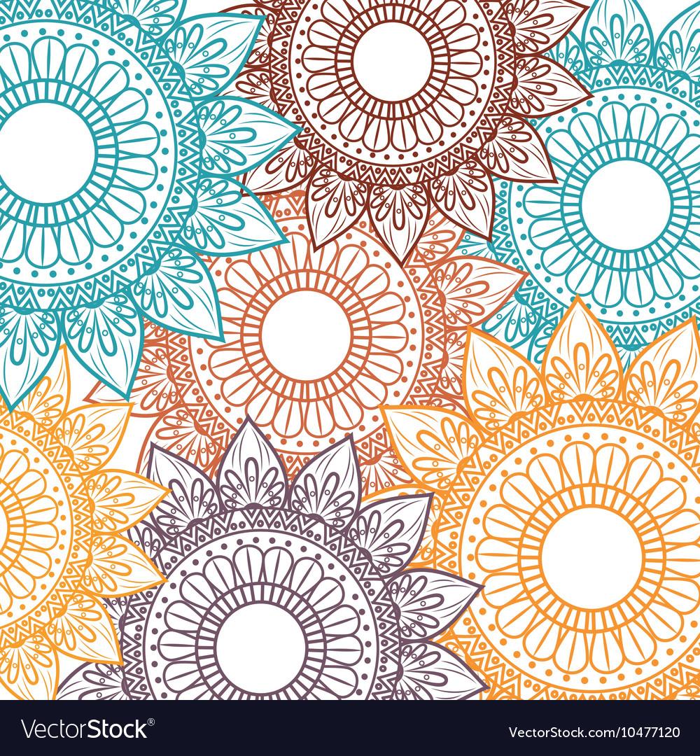 Bohemian pattern background