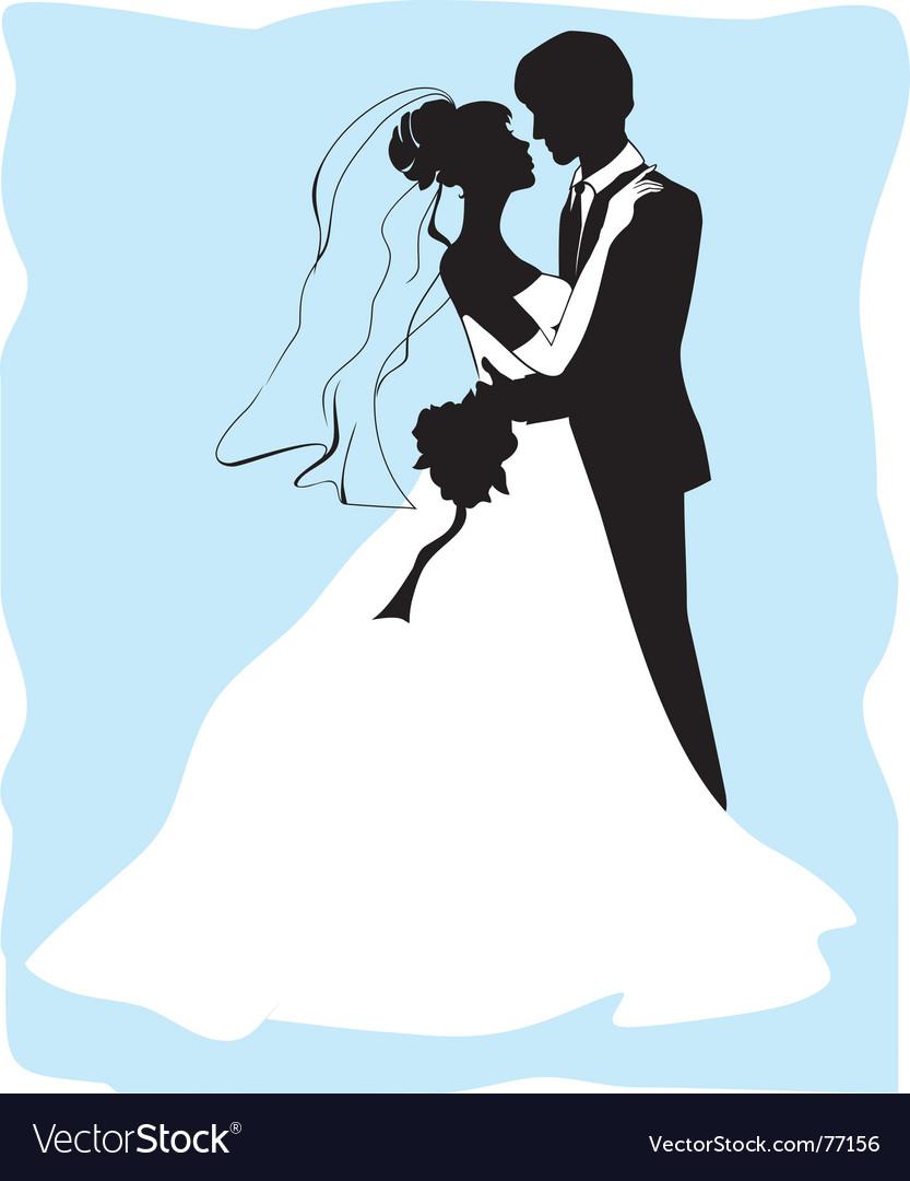 Шаблон жениха и невесты для открытки 37
