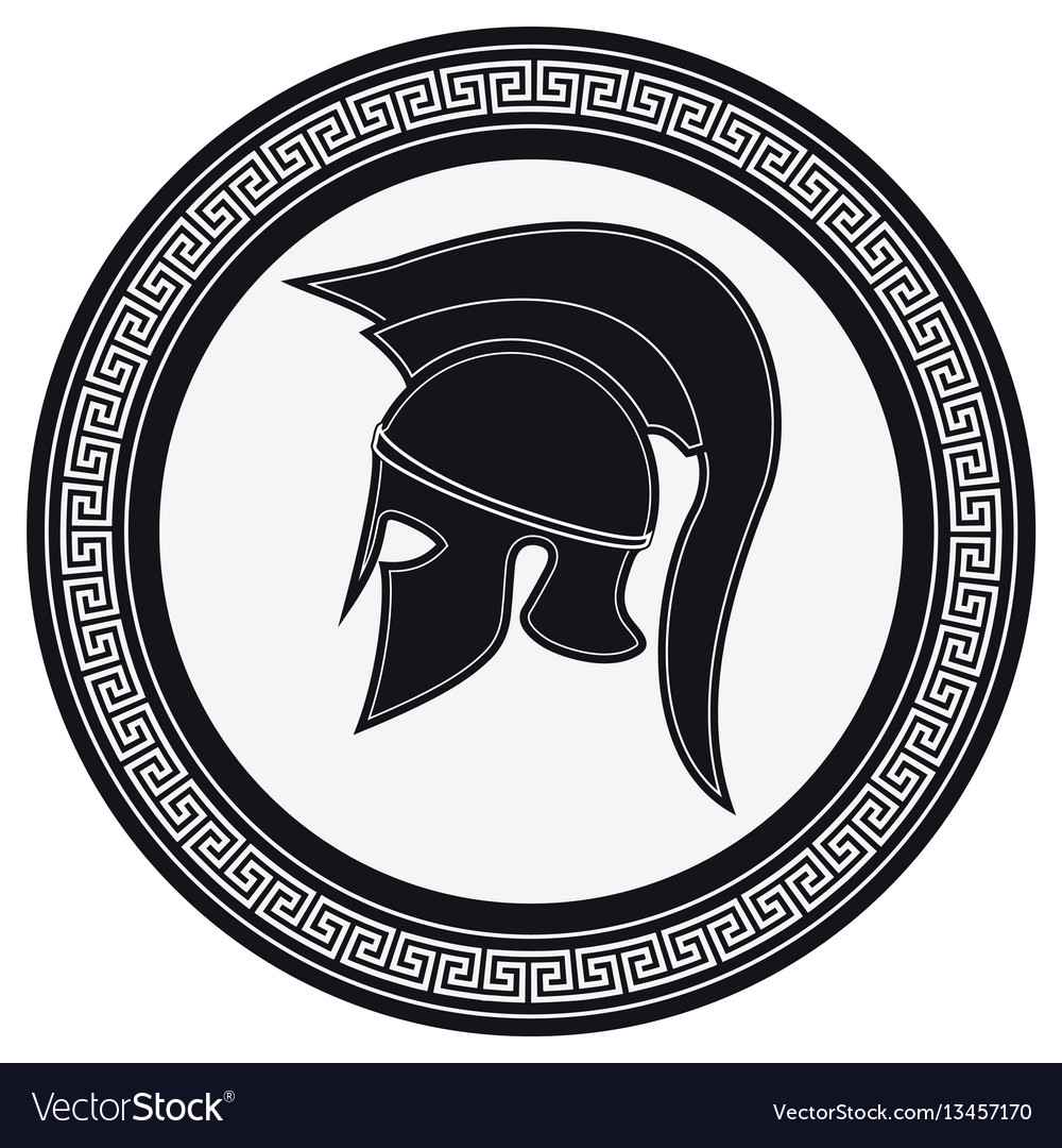 Greek shield vector