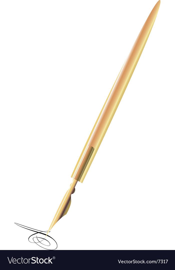 Old pen vector