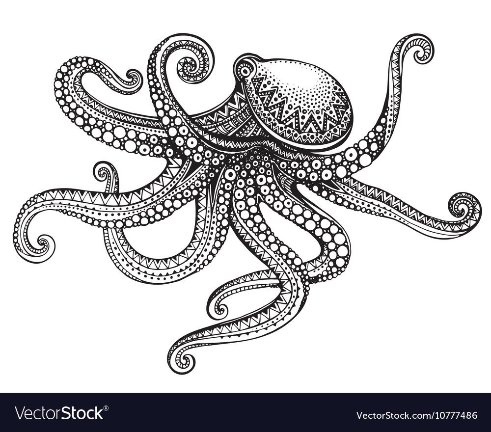 Cute octopus drawing