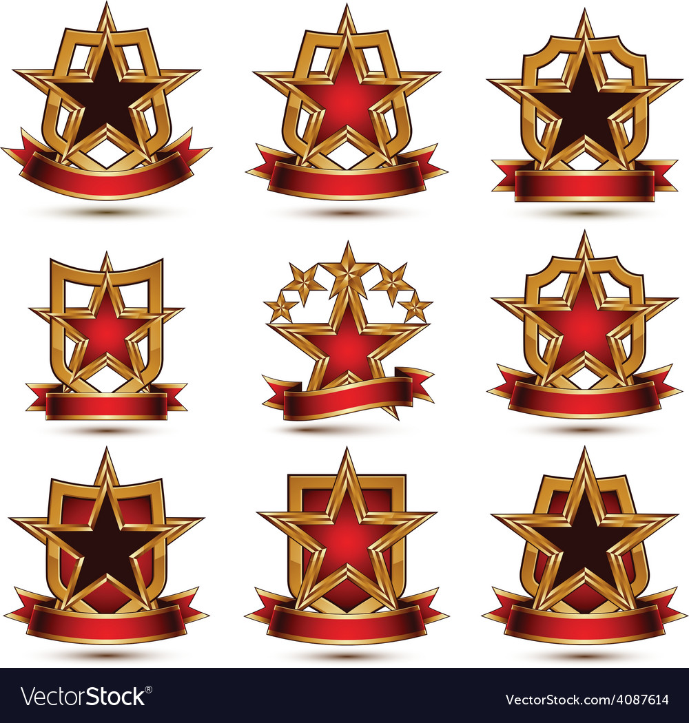 Marvellous vector gold star pictures