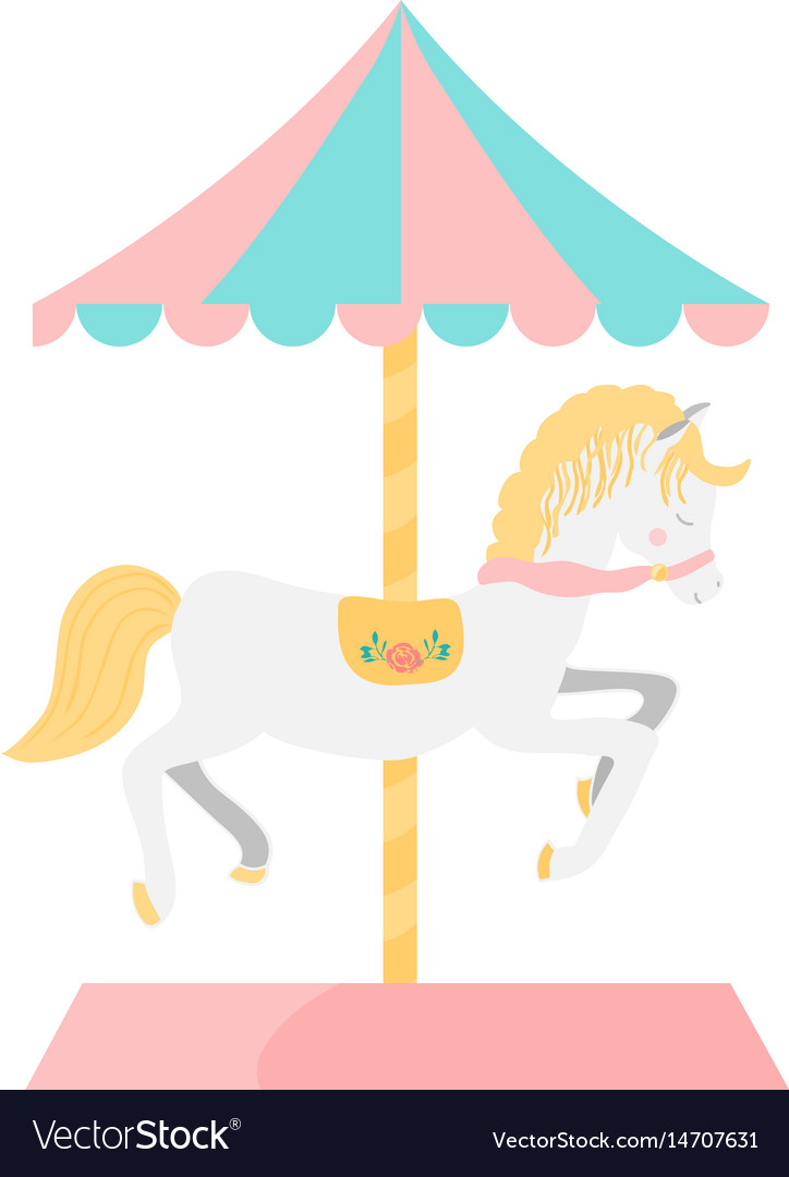 Carousel horse template