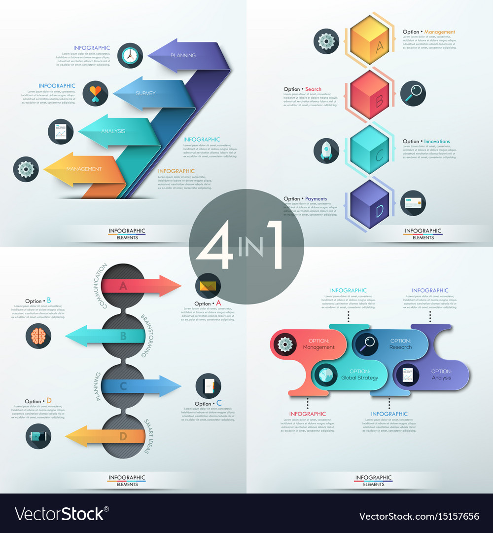 Infographic elements + template download