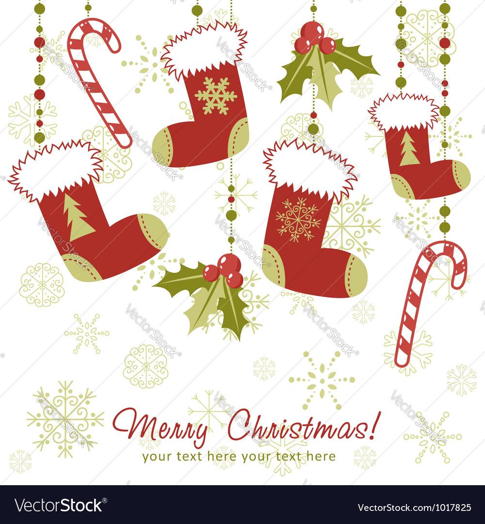 Рождественские открытки вектор 62