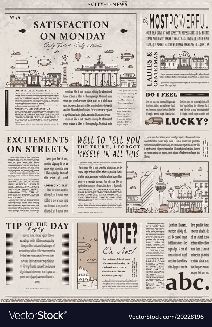 1930s Newspaper Template Gallery Template Design Free Download