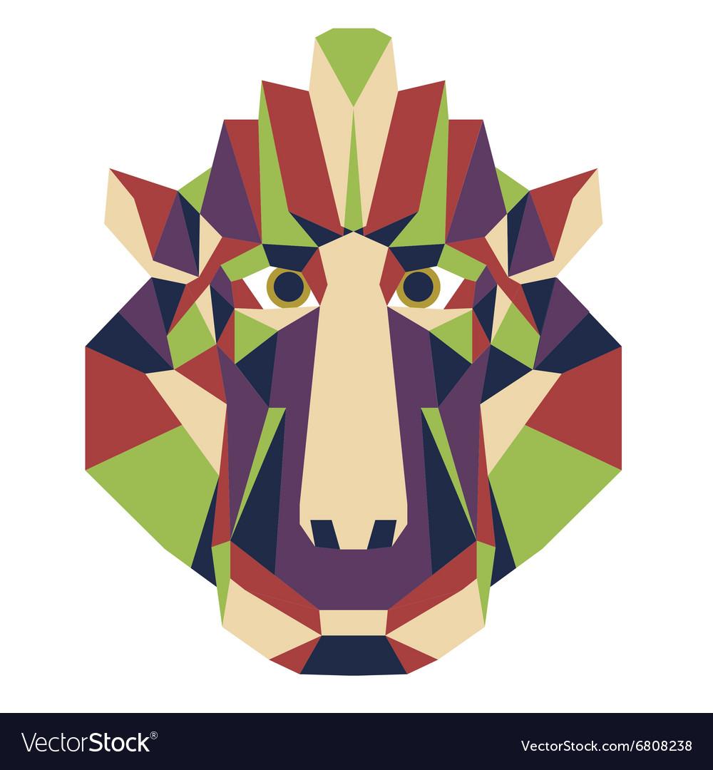 Geometric animal head