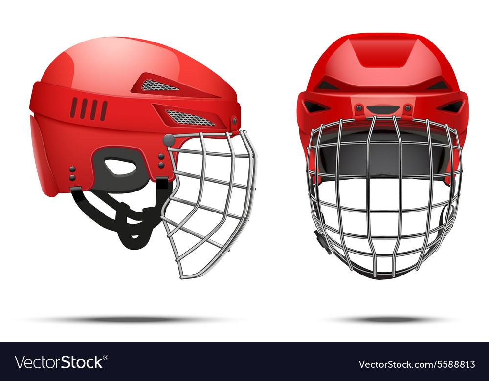 Hockey helmet yellow