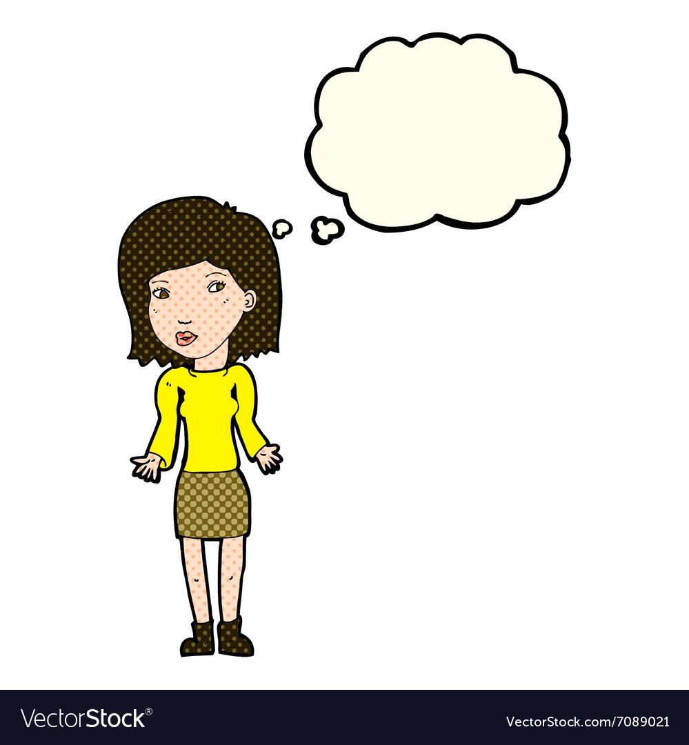 Black woman thinking cartoon