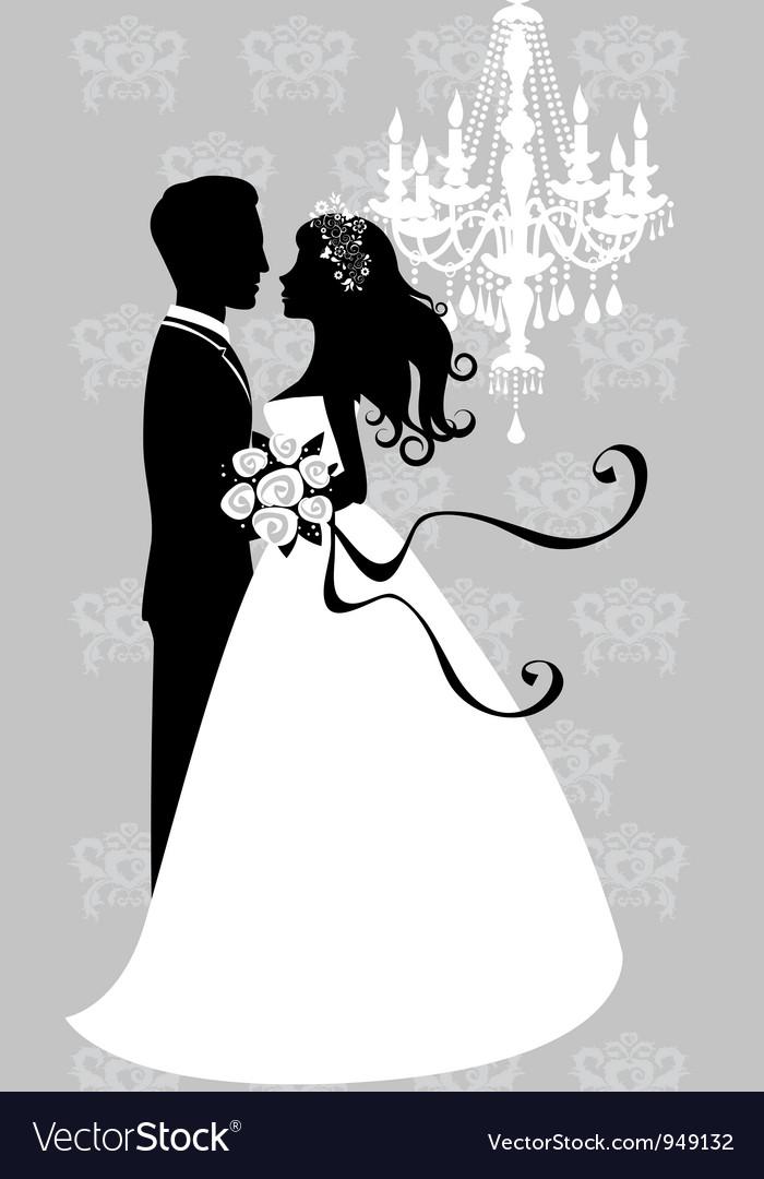 Шаблон жениха и невесты для открытки 110