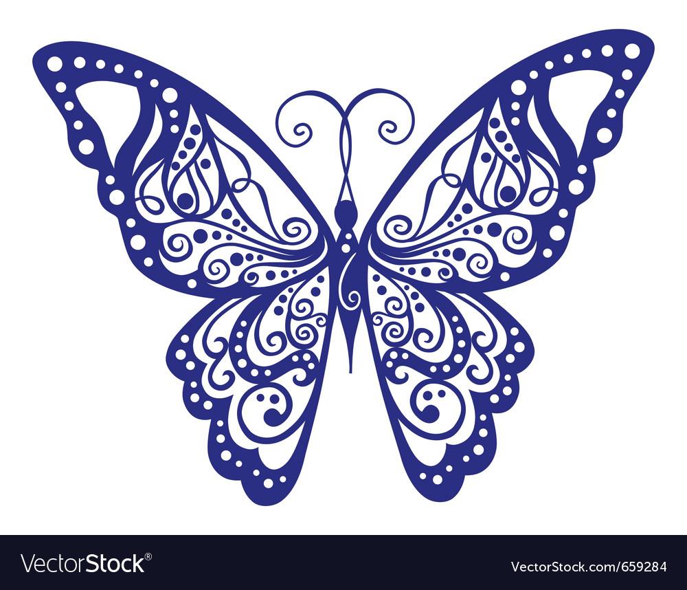 Трафарет бабочки для росписи